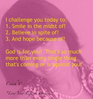 Coach V Life Coach 4 Today's Woman #Dream #Imagine #Believe # ...