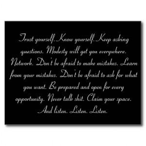 Graduation Inspirational Quote Postcard