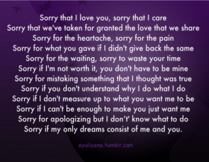 ayuliyana:I'm sorry for being this way.