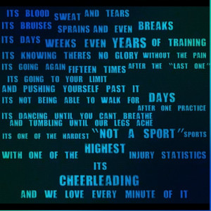Cheerleading is a sport