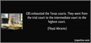 Texas courts. They went from the trial court to the intermediate court ...