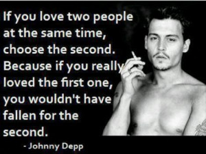 Johnny depp quote about love loving two people at once