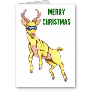 reindeer christmas card sayings