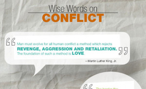 ... conflict resolution or peaceful tactics when facing major conflicts
