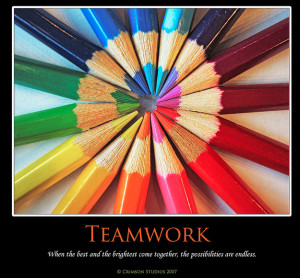 use these resources to create your own amazing team work posters