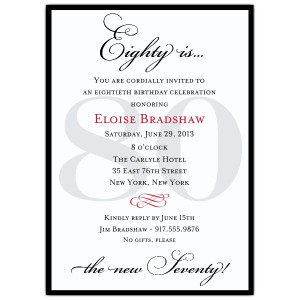 Invitations For 80Th Birthday is awesome invitations sample