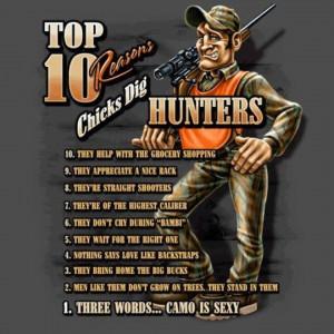 Top 10 Reasons Chicks Dig Hunters…
