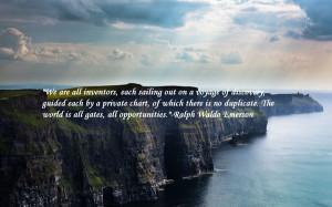 landscapes quotes cliffs ralph waldo emerson sea Knowledge Quotes HD ...