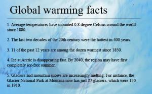 Do you believe in global warming?