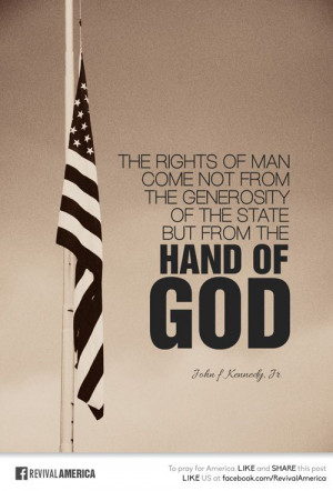 generosity of the State but from The Hand of GOD