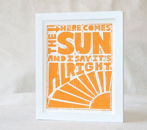 11x14 HERE COMES the SUN Beatles Baby Poster by rawartletterpress, $27 ...