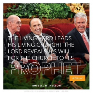 Quote from President Russell M. Nelson, Sunday morning session of the ...