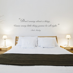 Don't Worry' Quote Wall Sticker by Oakdene Designs at Bouf.com