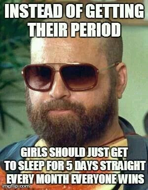 Instead of getting their periods - girls should get to sleep in for 5 ...