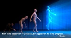 Not blind opposition to progress,but opposition to blind progress ...