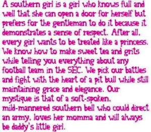 Southern girl quotes via Carol's Country Sunshine on Facebook