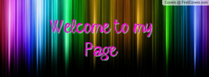 Welcome to my Page cover