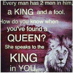 His queen!