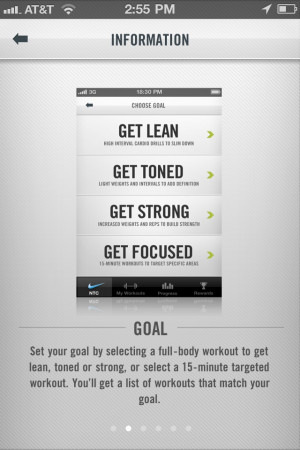 nike training app walkthrough – lovelyui (UI examples site)