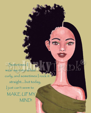 ... naturally kinky hair.Check out more art prints from MyJunkyTrunk