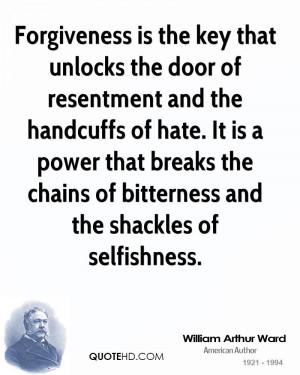 William Arthur Ward Forgiveness Quotes