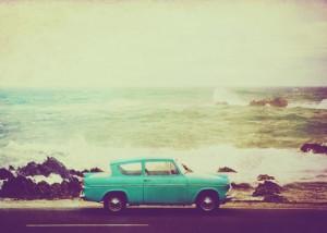 beach, car, fun, ocean