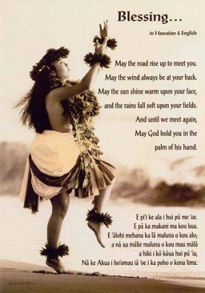 blessing in Hawaiian and English