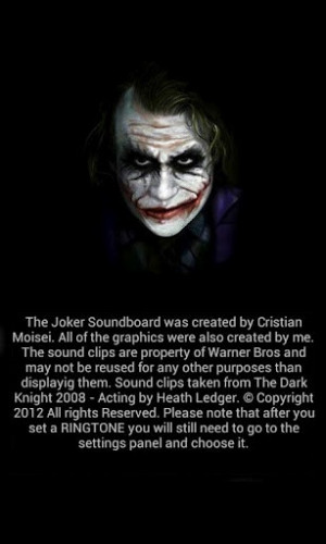 View bigger - The Joker Soundboard for Android screenshot
