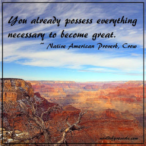 Native American Proverb, Crow [17349]