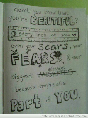 cute, dont you know, love, love scars, pretty, quote, quotes