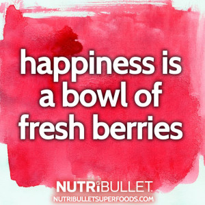 Happiness is a bowl of fresh berries #quotes #health