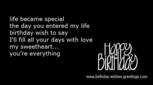 Romantic birthday poems and loving romance birthday greetings
