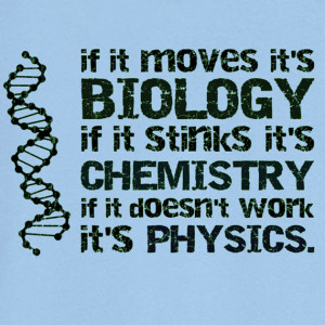 Biology, Chemistry, Physics Novelty T Shirt Z12027