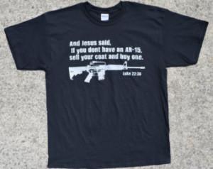 Shirt: Pro-Gun Jesus