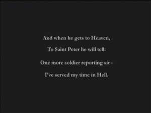 The poem in the opening scene of Medal of Honor: Frontline was a truly ...