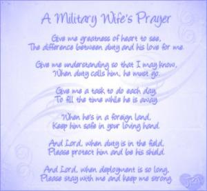 Military Wife's Prayer