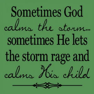 Thank you Jesus for calming the Child...