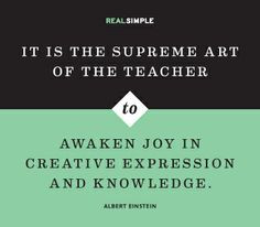 ... joy in creative expression and knowledge.