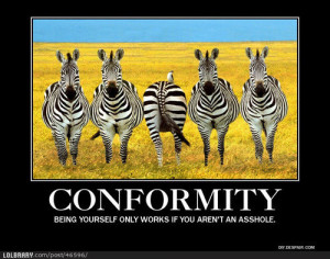 Conformity isn\'t always a bad thing. | LOLBRARY.COM