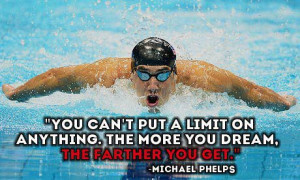 Swimming Quotes Michael Phelps Here is a quote by phelps that