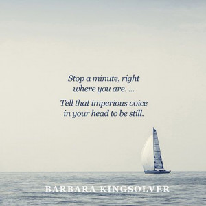 Stop a minute, right where you are. Relax your shoulders, shake your ...