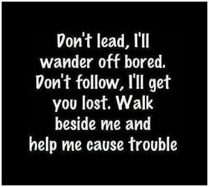Advice Quotes lead follow lost trouble
