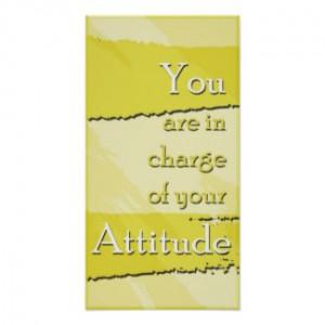 Your Attitude Motivational Poster zazzle_print