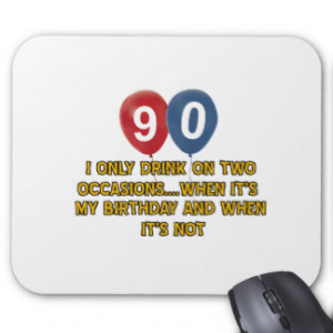 90 year old birthday designs mouse pads