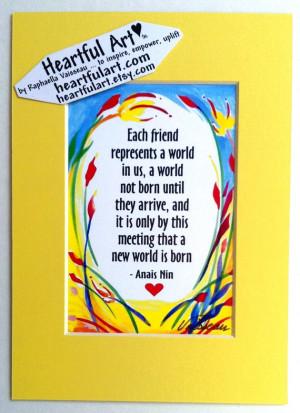 World ANAIS NIN Inspirational Quote Motivational Print Family ...