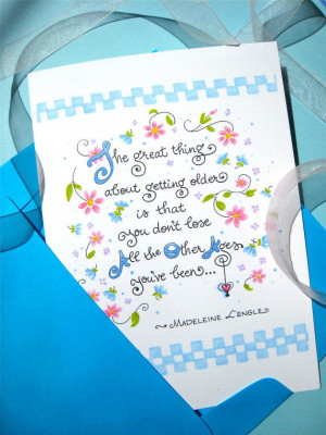 Birthday Card for Her. Inspirational Quote Card. The Great Thing About ...
