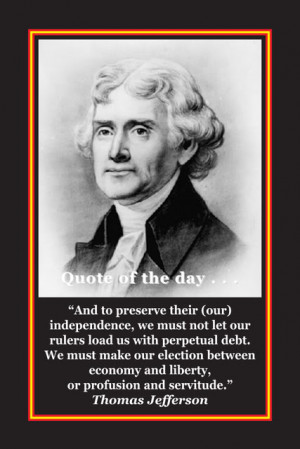 MAIN ST. NEWS: POLITICS- Thomas Jefferson