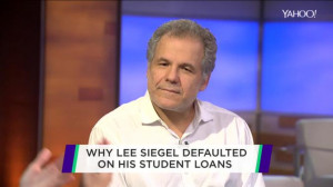 Why Lee Siegel is defaulting on his college loans | View photo - Yahoo ...