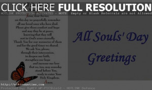 ... greeting cards to all on ocassion of All Souls' Day on November 2