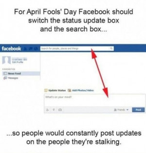 Facebook on April Fool's Day